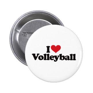 I Liebe-Volleyball Runder Button 5,1 Cm