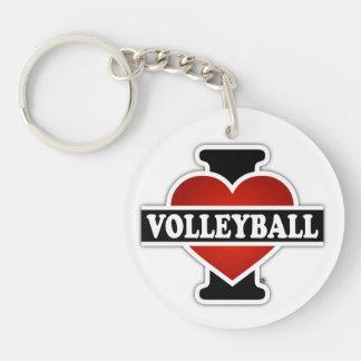 I Liebe-Volleyball Schlüsselanhänger