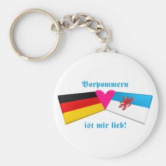 I Liebe Vorpommern ist-MIR lieb Standard Runder Schlüsselanhänger