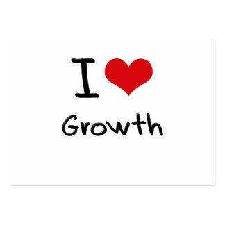 I Liebe-Wachstum Visitenkartenvorlage