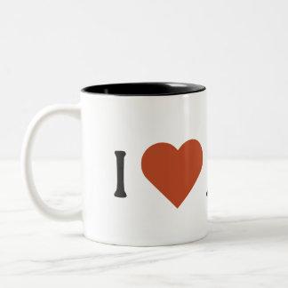I Liebe-Wachtel-Tasse Zweifarbige Tasse
