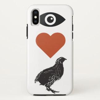 I Liebe-Wachteln iPhone Fall iPhone X Hülle