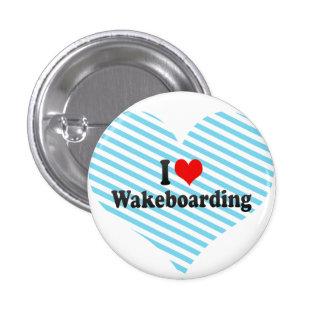 I Liebe Wakeboarding Runder Button 3,2 Cm