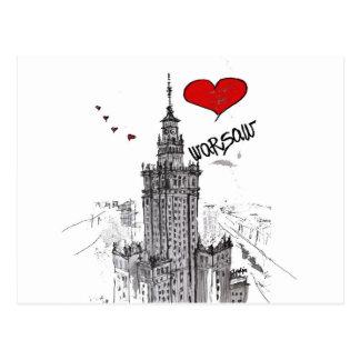 I Liebe Warschau Postkarte