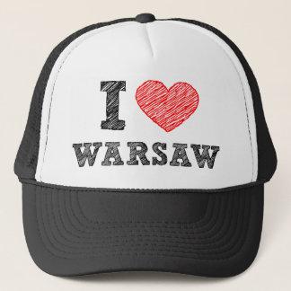 I Liebe Warschau Truckerkappe