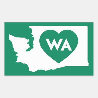 I Liebe-Washington-Staats-Rechteck-Aufkleber Rechteckiger Aufkleber
