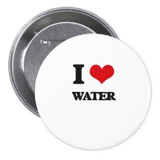I Liebe-Wasser Runder Button 7,6 Cm