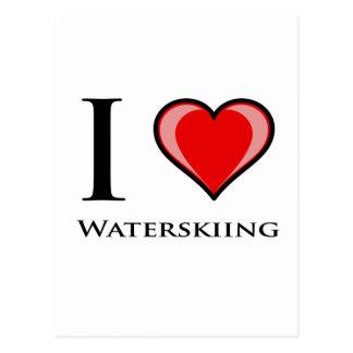 I Liebe-Wasserskifahren Postkarte