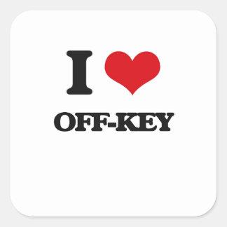I Liebe Weg-Schlüssel Quadrat-Aufkleber