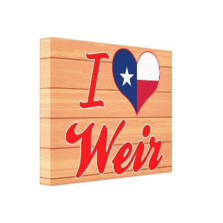 I Liebe-Wehr Texas Gespannte Galeriedrucke