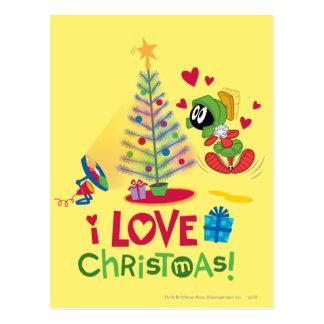 I Liebe-Weihnachten - MARVIN das MARTIAN™ Postkarte