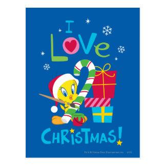 I Liebe-Weihnachten - TWEETY™ Postkarte