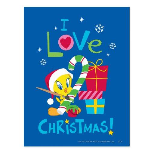 I Liebe-Weihnachten - Tweety Postkarte