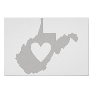 I Liebe West Virginia Poster