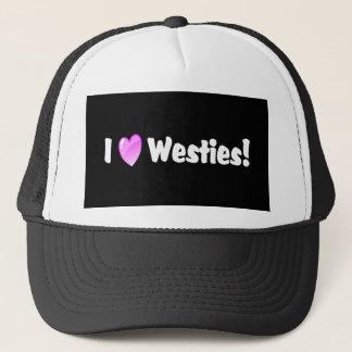 I Liebe-Westhochland-Weiß Westies Truckerkappe