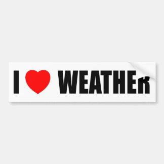 I Liebe-Wetter Autoaufkleber
