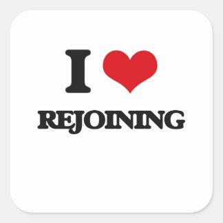 I Liebe-Wiedervereinigung Quadrat-Aufkleber