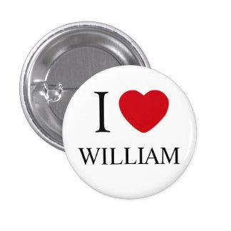 I Liebe-William-Abzeichen Buttons