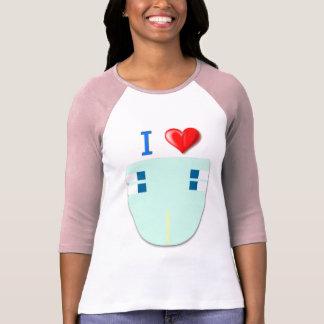 I Liebe-Windeln/Baby 4 Hülse des Leben-erwachsene T-Shirt