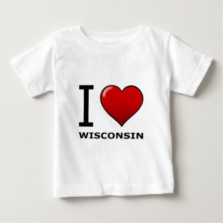 I LIEBE WISCONSIN BABY T-SHIRT