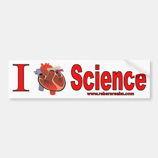 I Liebe-Wissenschaft Autoaufkleber