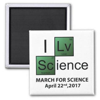 I Liebe-Wissenschaft Quadratischer Magnet