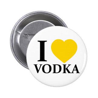 I Liebe-Wodka Anstecknadelbutton