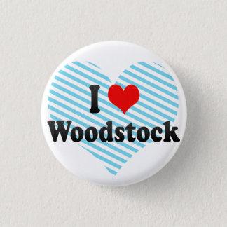 I Liebe Woodstock, Kanada Runder Button 3,2 Cm