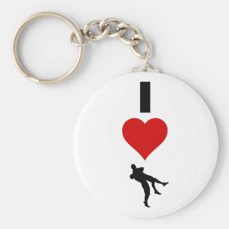 I Liebe-Wrestling (vertikal) Schlüsselanhänger