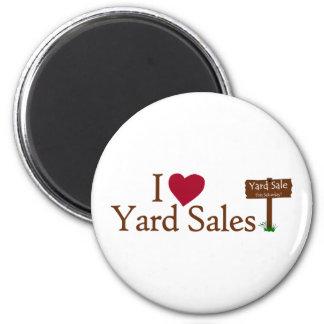 I Liebe-Yard-Verkäufe Runder Magnet 5,1 Cm