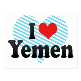 I Liebe Yemen Postkarte