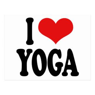 I Liebe-Yoga Postkarte
