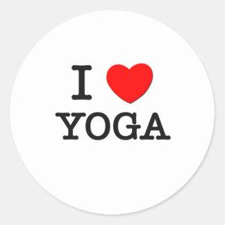 I Liebe-Yoga Runder Sticker