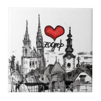 I Liebe Zagreb Fliese