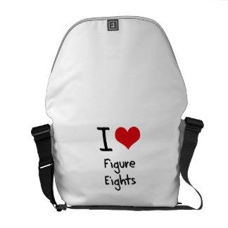I Liebe-Zahl Eights Kuriertasche