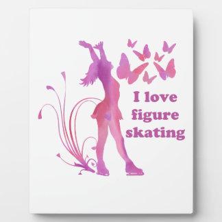 I Liebe-Zahl Skaten Fotoplatte