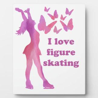 I Liebe-Zahl Skaten-Geschenkartikel Fotoplatte