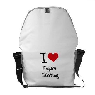 I Liebe-Zahl Skaten Kuriertasche