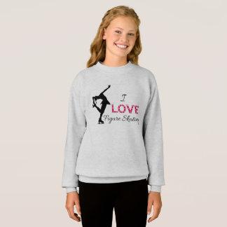 I LIEBE Zahl Skaten, Mädchen-Sweatshirt Sweatshirt