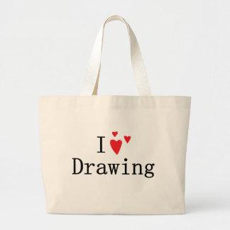 I Liebe-Zeichnen Tragetasche