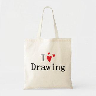 I Liebe-Zeichnen Tragetaschen