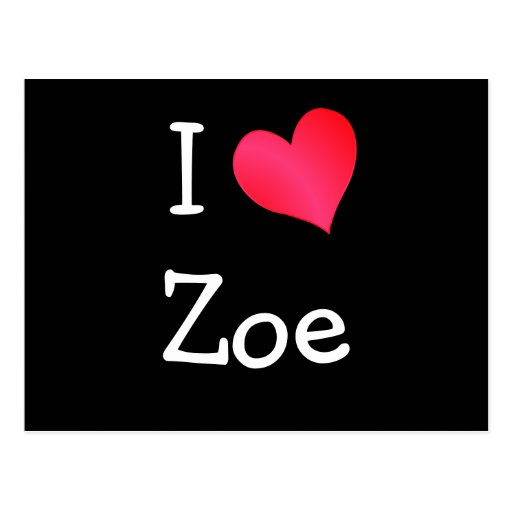 I Liebe Zoe Postkarten