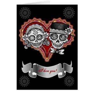 I Liebe zuckern Sie Schädel-Karten - addieren Sie Karte
