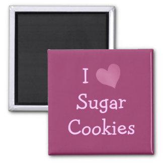 I Liebe-Zuckerplätzchen Quadratischer Magnet