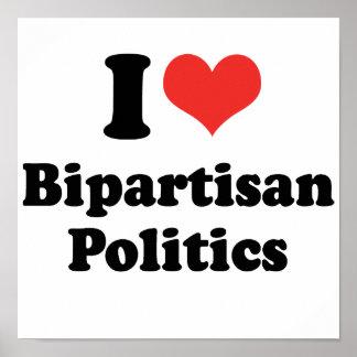 I LIEBE-ZWEI PARTEIEN ZUGEHÖRIGE POLITIK - .PNG PLAKATDRUCKE