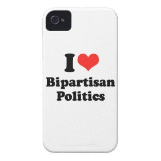 I LIEBE ZWEI PARTEIEN ZUGEHÖRIGES POLITICS.png iPhone 4 Case-Mate Hüllen