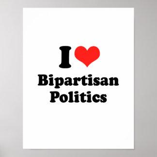 I LIEBE ZWEI PARTEIEN ZUGEHÖRIGES POLITICS.png Posterdruck