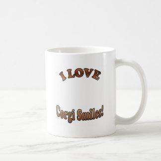 I Liebecorgi-Lächeln-Schablone für Kaffeetasse