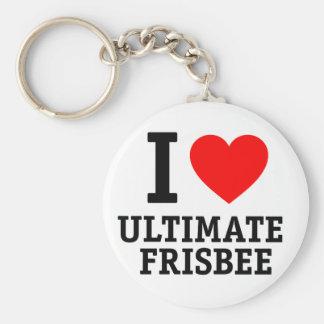 I Liebeentscheidender Frisbee Schlüsselanhänger