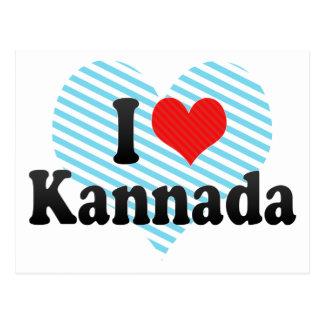I LiebeKannada Postkarte